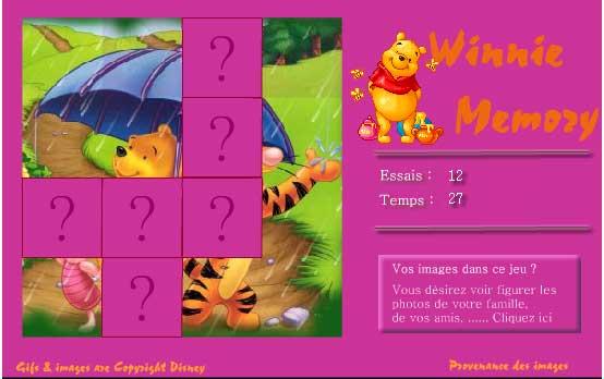 Игра Винни пух на память онлайн