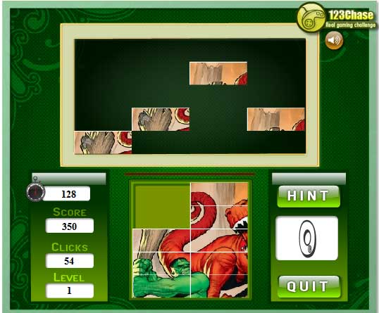 Игра Головоломка зеленого монстра онлайн