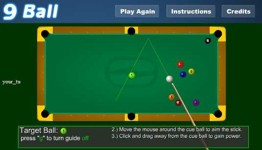 Игра Девятый шар онлайн