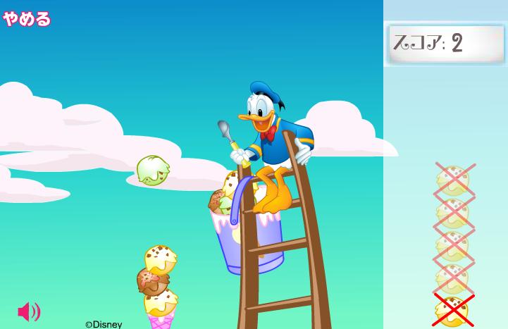 Игра Дональд Дак Мороженое онлайн
