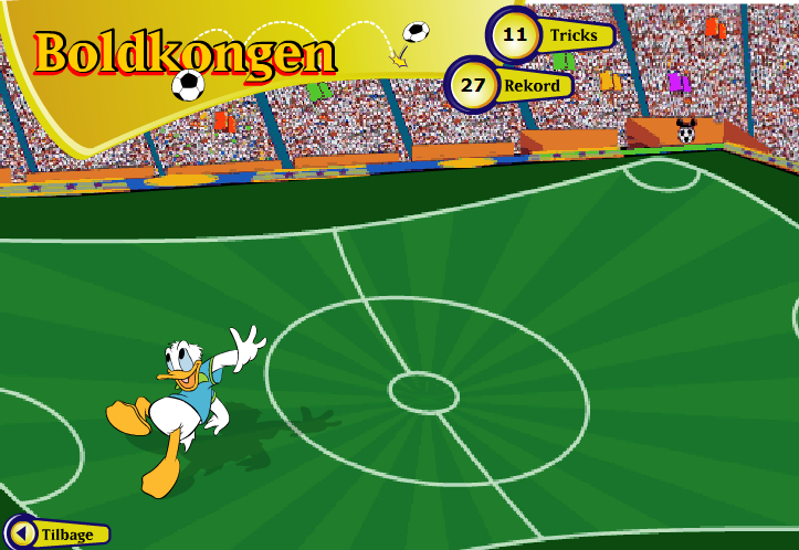 Игра Дональд Мяч онлайн