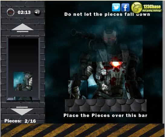Игра Железный человек из кубиков онлайн