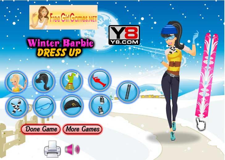 Игра Зимняя Барби одевается онлайн