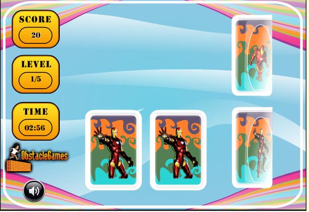 Игра Карточки железного человека онлайн