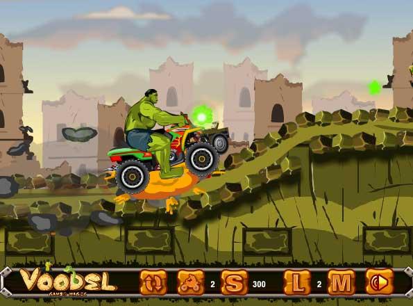Игра Квадроцикл Халка онлайн