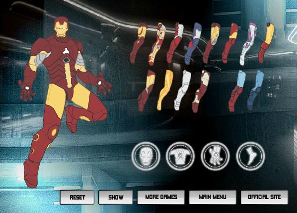 Игра Костюм Железного человека онлайн