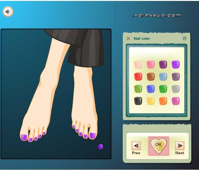 Игра Летний педикюр онлайн
