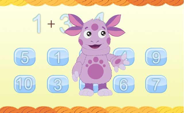 Игра Лунтик Математика для малышей онлайн