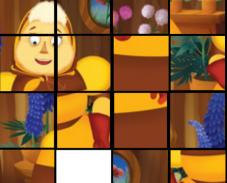 Игра Лунтик и пазл с Бабой Капой онлайн