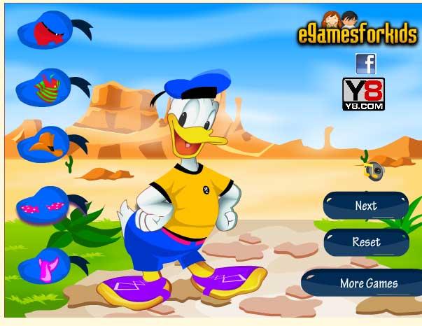 Игра Модник Дональд Дак - играй онлайн