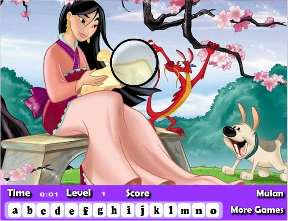 Игра Мулан и алфавит онлайн