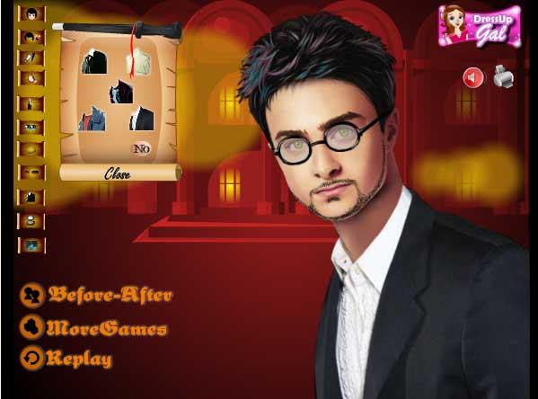 Игра Одеваем Гарри Поттера онлайн
