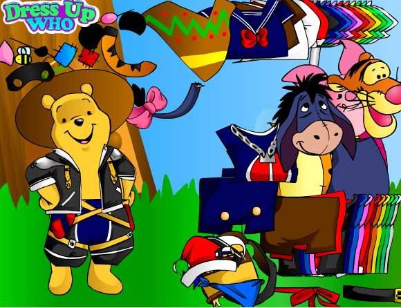 Игра Одевалка Винни онлайн