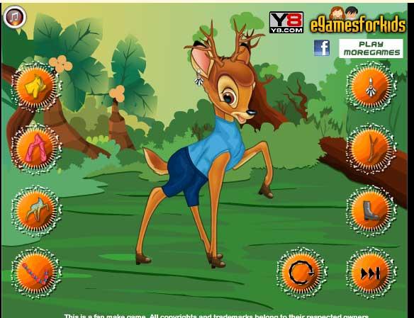 Игра Одежда для Бемби онлайн