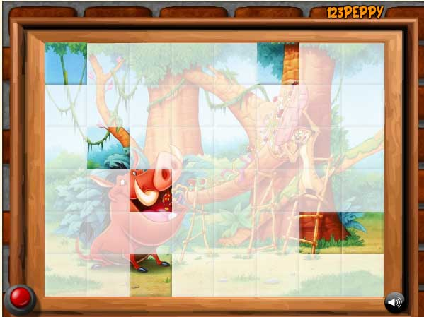 Игра Опять Тимон и Пумба! онлайн