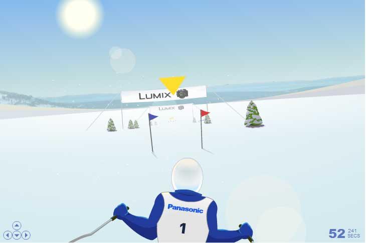 Игра Панасоник Лыжные гонки онлайн