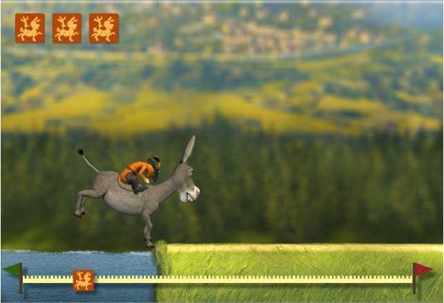 Игра Погоня на осле онлайн