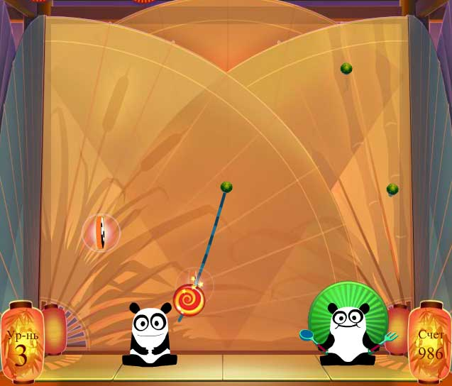 Игра Покорми Кунг Фу Панду онлайн