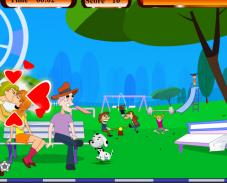 Игра Поцелуй в парке онлайн