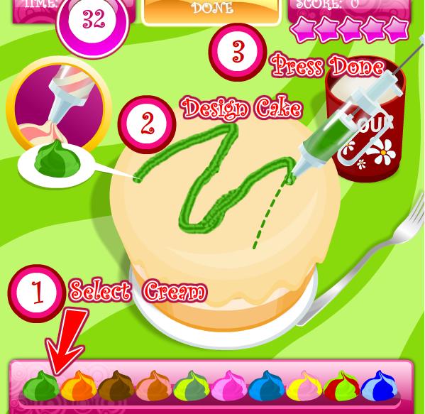Игра Приготовь торт онлайн