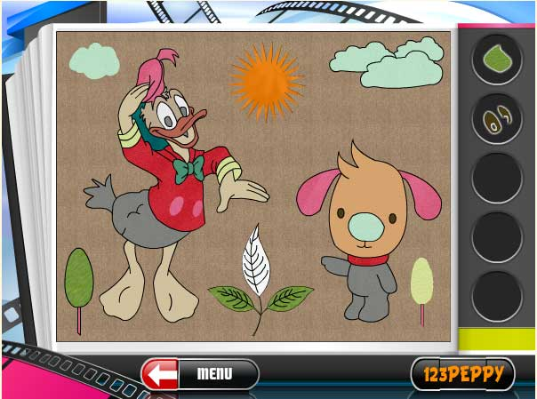 Игра Раскраска Дональд дак онлайн
