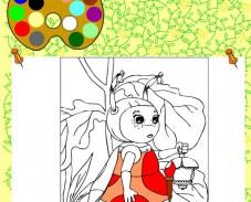 Игра Раскраска с Милой онлайн