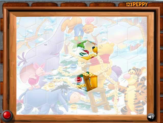 Игра Рождественский Винни онлайн