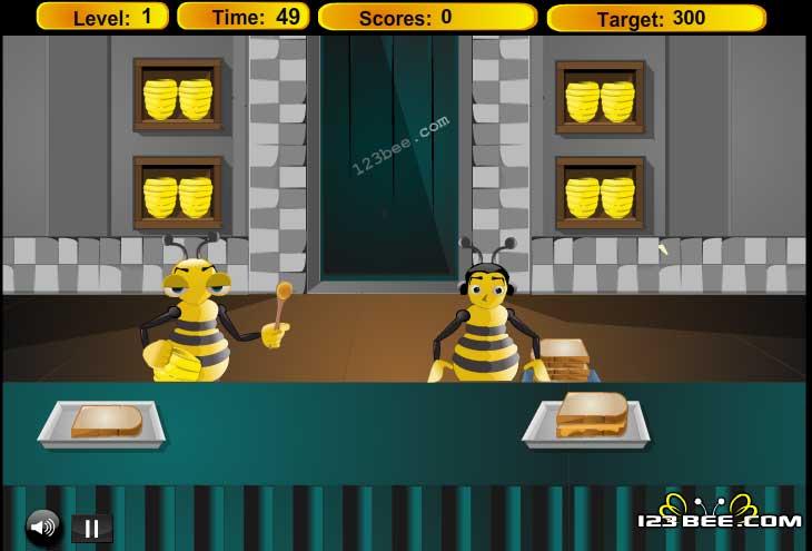 Игра Сладкий бутерброд с медом онлайн