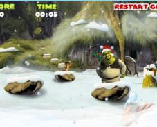 Игра Снежки Шрек онлайн