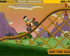 Игра Флинстоун езда на велосипеде онлайн