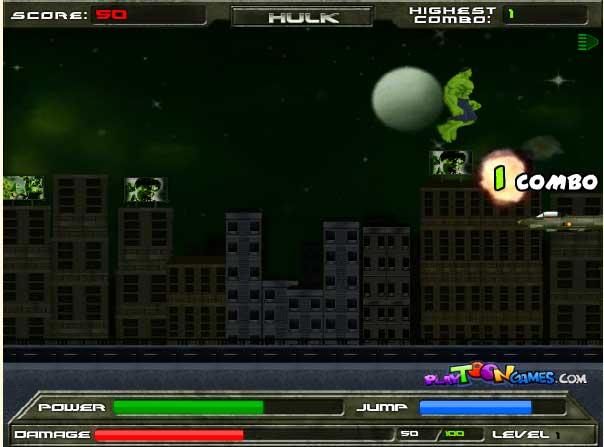 Игра Халк В гневе онлайн