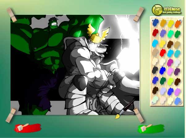Игра Халк в цвете онлайн