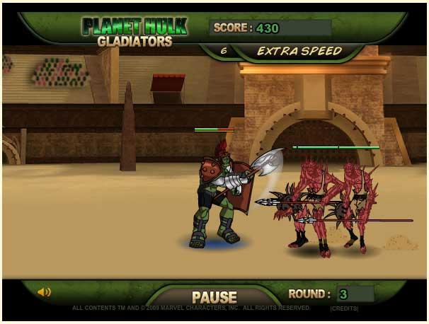 Игра Халк гладиатор онлайн