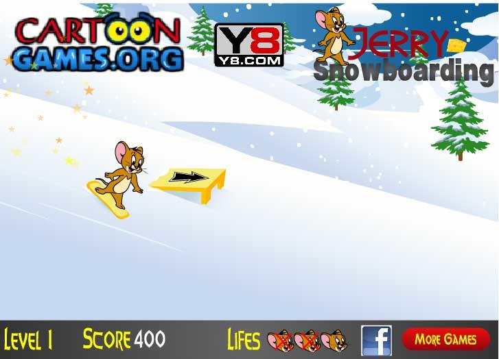 Игра Джерри на сноуборде онлайн