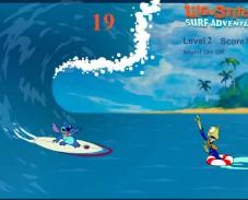 Игра Лило и Стич приключение на серфе онлайн