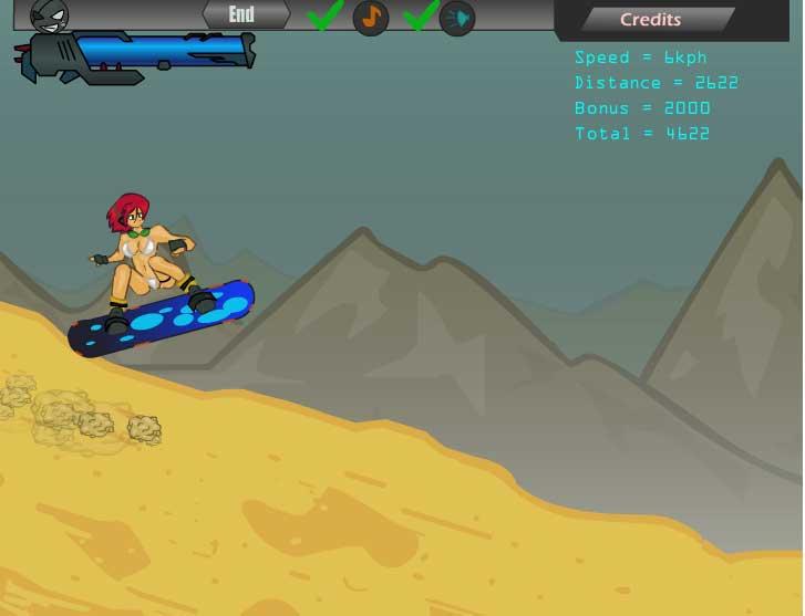 Игра  Супер Сэндборд Детка онлайн