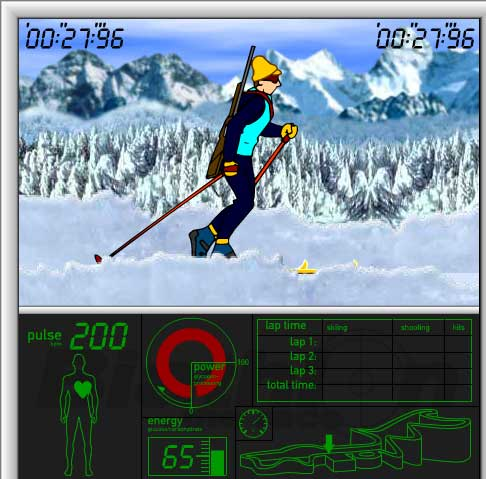 Игра Гонка Биотлона онлайн