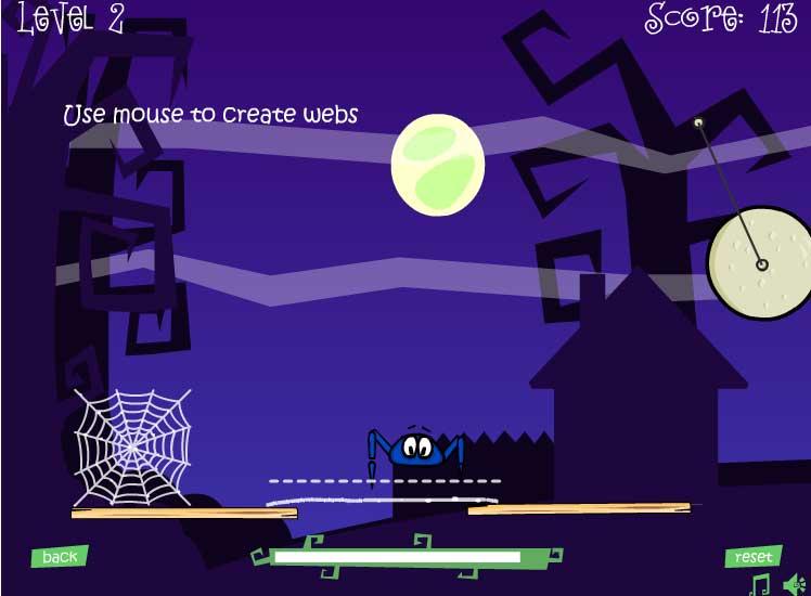 Игра Добраться к сети паука онлайн