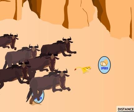 Игра Король Лев Убеги от Антилоп онлайн