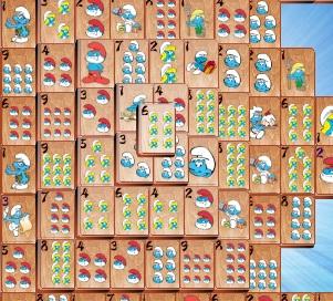 Игра Маджонг для Смурфиков онлайн