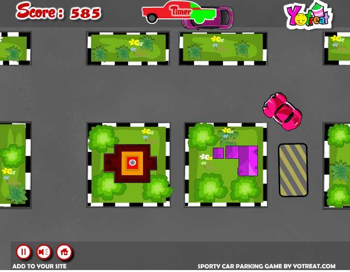 Игра Припаркуй спортивный кар онлайн