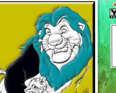 Игра Раскраска Король Лев онлайн