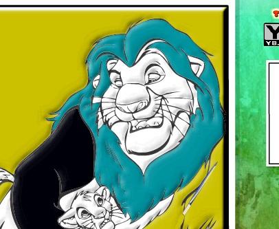 Игра Раскраска Король Лев - играй онлайн