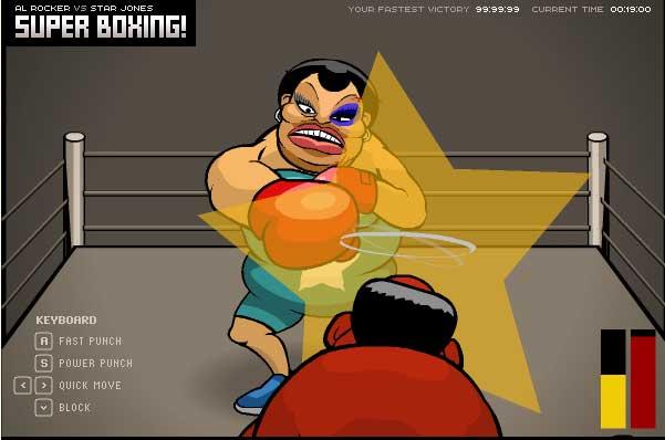 Игра Супер мощный бокс онлайн