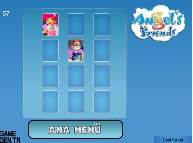 Игра Друзья Ангелов — Двоиные карты онлайн