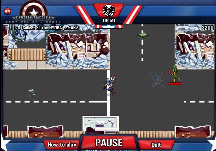 Игра Капитан Америка страж свободы онлайн