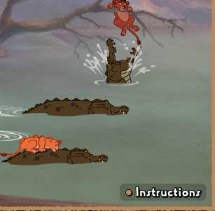 Игра Крокодилы и Король Лев онлайн