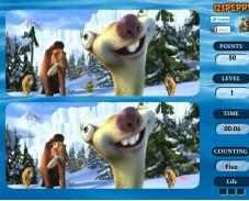 Игра Ледниковый Период 4 найди 6 Отличий онлайн