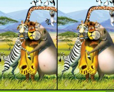 Игра Мадагаскар — Различия онлайн