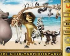 Игра Мадагаскар — поиск алфавита онлайн